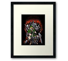 Zelda Game Of Thrones Framed Print