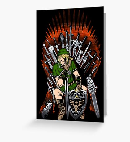Zelda Game Of Thrones Greeting Card