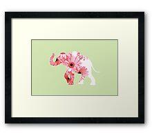 Petal Elephant Framed Print