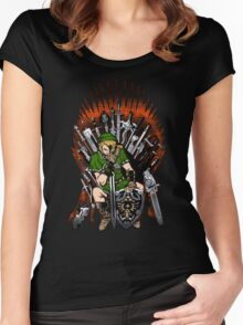 Zelda Game Of Thrones Women's Fitted Scoop T-Shirt