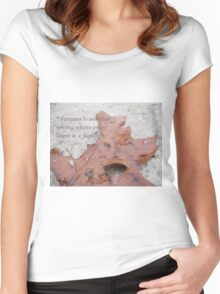 Quotes Women's Fitted Scoop T-Shirt