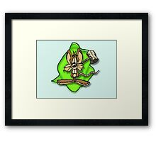 Mouse with hammer Framed Print