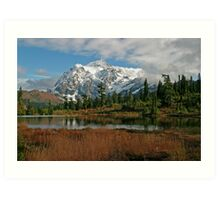 Mount Shuksan and Picture Lake Art Print