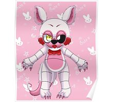 Five nights at freddys 2 Cute Chibi Mangle With Background  Poster