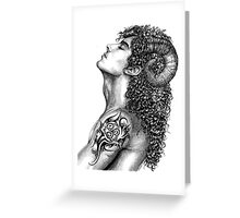 Pan Forest God Greeting Card