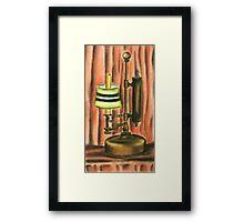 Antique lamp in colour Framed Print