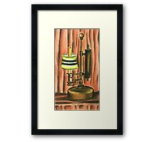 Antique lamp in colour Framed Print