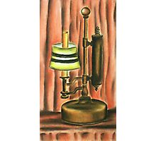 Antique lamp in colour Photographic Print