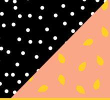 Polka Dot plus Peach Pit Sticker