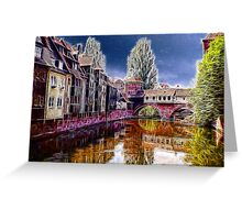 Pegnitz river, Nuremberg, Germany Greeting Card