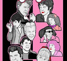 Grease tbird and pink ladies character collage by gjnilespop