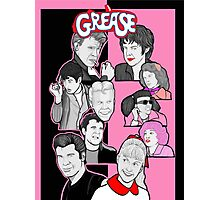 Grease tbird and pink ladies character collage Photographic Print