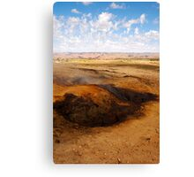 The burning hills Canvas Print