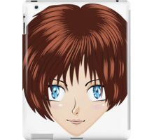 Anime brunette girl iPad Case/Skin