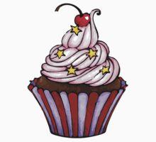 Pink Cherry Cupcake  by Mariya Olshevska