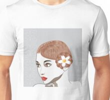 Brunette girl Unisex T-Shirt