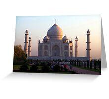 The Taj Mahal at sunrise. Greeting Card
