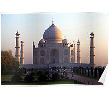 The Taj Mahal at sunrise. Poster