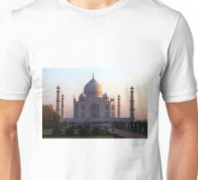 The Taj Mahal at sunrise. Unisex T-Shirt