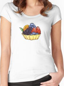 Fruit and Berry Dessert Cup Women's Fitted Scoop T-Shirt
