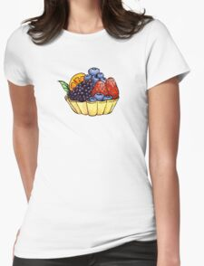 Fruit and Berry Dessert Cup Womens Fitted T-Shirt