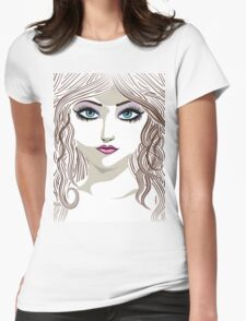 Brunette girl 2 Womens Fitted T-Shirt