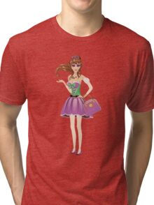Brunette girl 3 Tri-blend T-Shirt