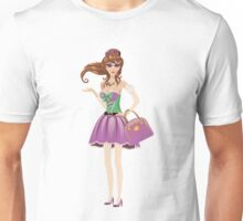 Brunette girl 3 Unisex T-Shirt