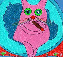 Mister rainbow cat with a cuban cigar by aka-tombo