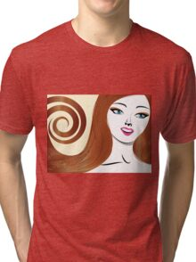 Brunette girl 4 Tri-blend T-Shirt