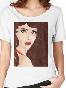 Brunette girl 6 Women's Relaxed Fit T-Shirt