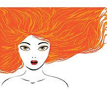 Girl with red hair Photographic Print