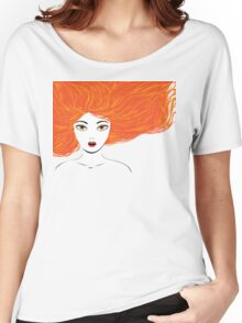 Girl with red hair Women's Relaxed Fit T-Shirt