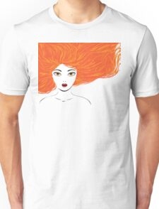 Girl with red hair Unisex T-Shirt