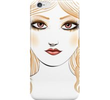 Girl with red hair 2 iPhone Case/Skin