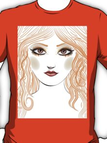 Girl with red hair 2 T-Shirt