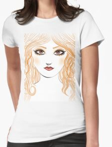 Girl with red hair 2 Womens Fitted T-Shirt