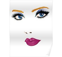 Beauty woman face Poster