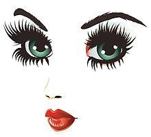 Beauty woman face 2 by AnnArtshock