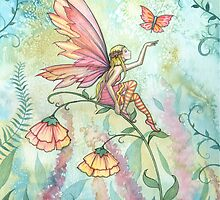 Free Fairy and Butterfly Art Watercolor Illustration  by Molly  Harrison
