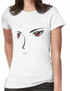 Face with red eyes Womens Fitted T-Shirt
