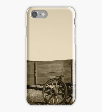 Abandoned Wooden Wagon iPhone Case/Skin