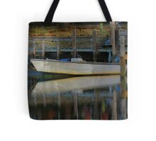 Waiting Patiently to Ride the High Tide (Texturized) Tote Bag
