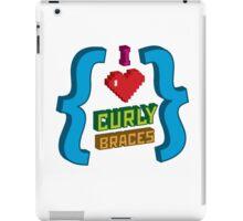 I Heart Curly Braces iPad Case/Skin