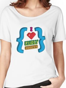 I Heart Curly Braces Women's Relaxed Fit T-Shirt