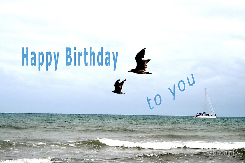 Quot Happy Birthday Sea Birds Quot By Elphonline Redbubble