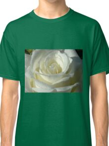 Close up of white rose 9 Classic T-Shirt