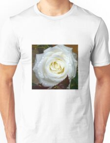 Close up of white rose 12 Unisex T-Shirt