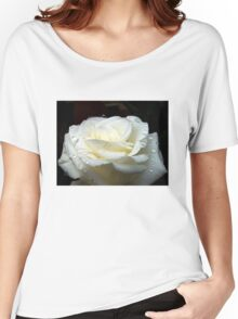 Close up of white rose 13 Women's Relaxed Fit T-Shirt