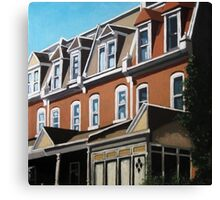 """City Row Houses"" - city buildings oil painting Canvas Print"